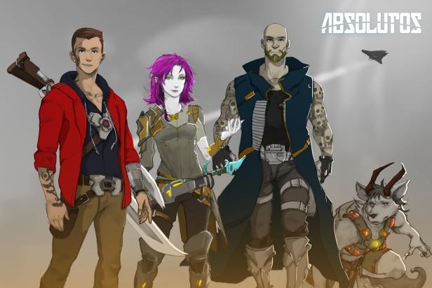 Reunião dos personagens logo